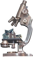 house-in-microscope